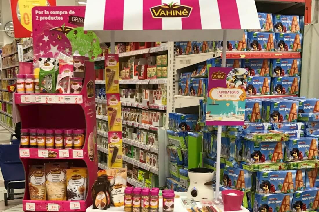 Demostraciones en punto de venta Vahine Sr y Sra Cake